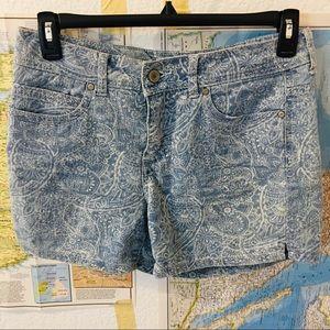 Faded Glory paisley shorts